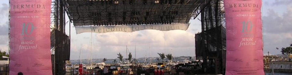 Site design and Technical Production for Bermuda Music Festival