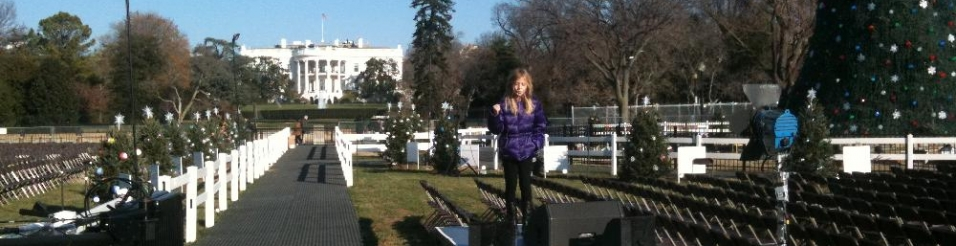 Jackie Evancho Soundchecks for Presidential Christmas Tree Lighting on White House Lawn.